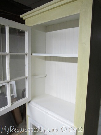 shelves for farmhouse window cupboard