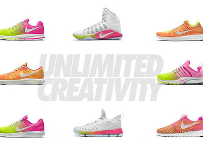 Unlimited Creativity Customize the best of Nike with speed inspired color a