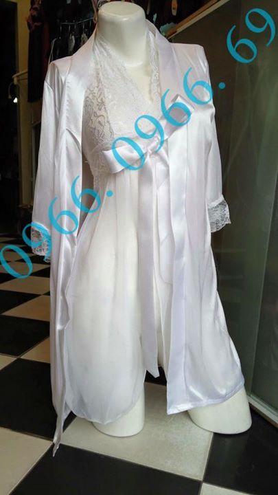 Gợi ý set đồ toàn màu trắng Set: choàng voan kèm váy/
