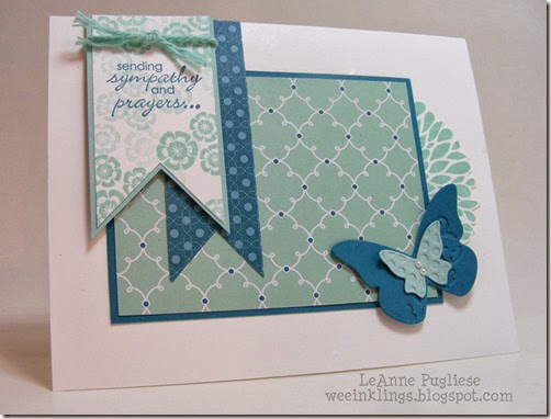 LeAnne Pugliese WeeInklings Sympathy Petite Pairs Butterfly Stampin Up
