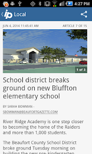 Island Packet Hilton Head news- screenshot thumbnail