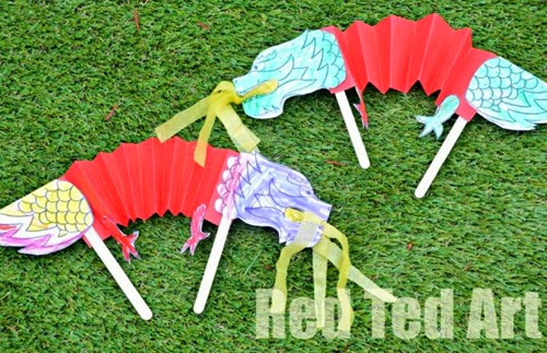 Chinese-New-Year-Crafts-for-Kids-Dragon-Puppets