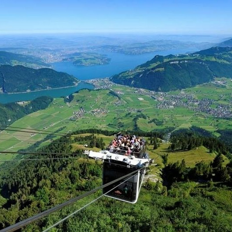 Switzerland Unveils World's First Double-Decker Cable Car