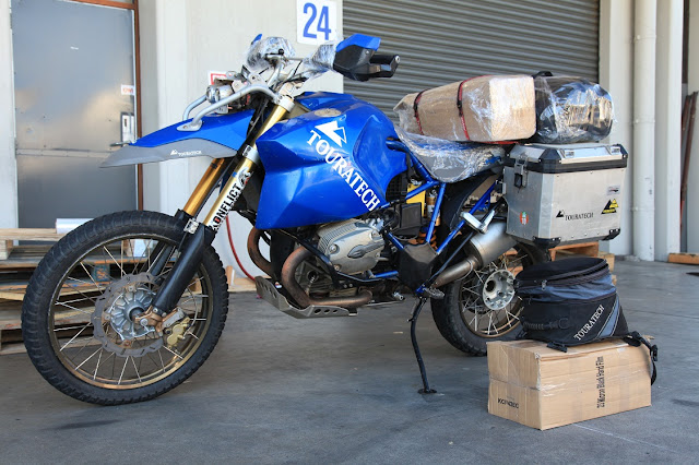 In Auckland Airport, bike is ready to ship to OZ.jpg.JPG