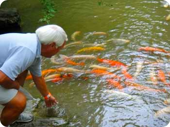 Paul with Koi