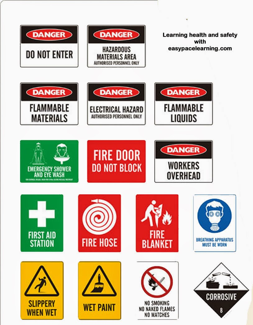 Education Is Now Easy With Me: Safety signs