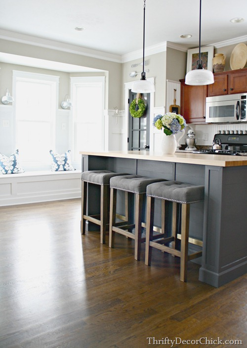 building a larger kitchen island