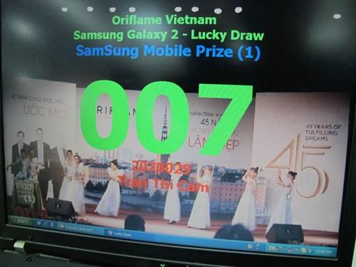 Oriflame SS Galaxy S2 - Trúng thưởng 12-3-2012