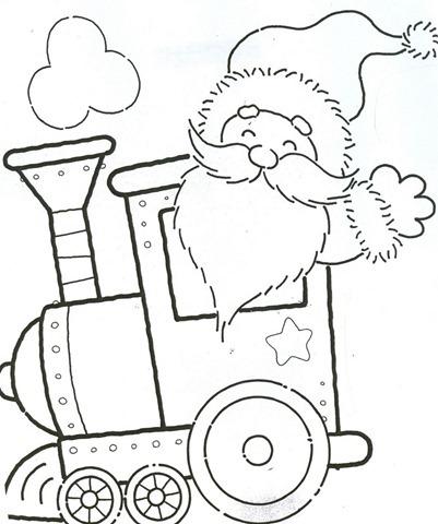 Trenzinho De Natal Em Eva Atividades Para Colorir