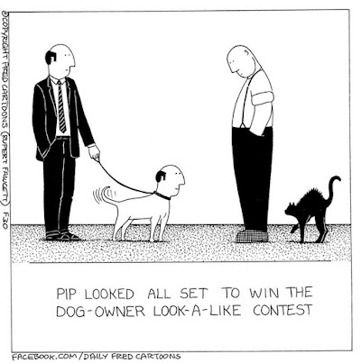 The Dog and owner lookalike contest Fred Ilovefred cartoons Rupertfawcett