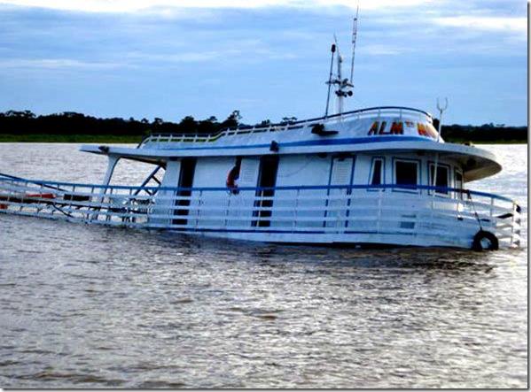 MPF/AM: Justiça Federal condena responsáveis por naufrágio do barco Princesa Amanda