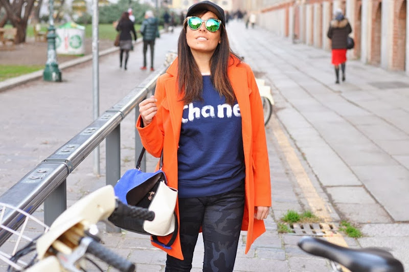 outfit, sweatshirt chanel, hype sunglasses, gossip girl, italian fashion bloggers, fashion bloggers, street style, zagufashion, valentina coco, i migliori fashion blogger italiani