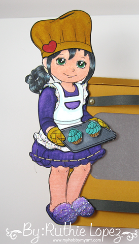 Inky Impressions - Oven cupcake box - Ruthie Lopez. 6
