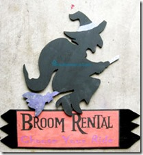 Broom rental sign