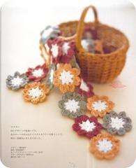 flores de crochet camino de mesa1