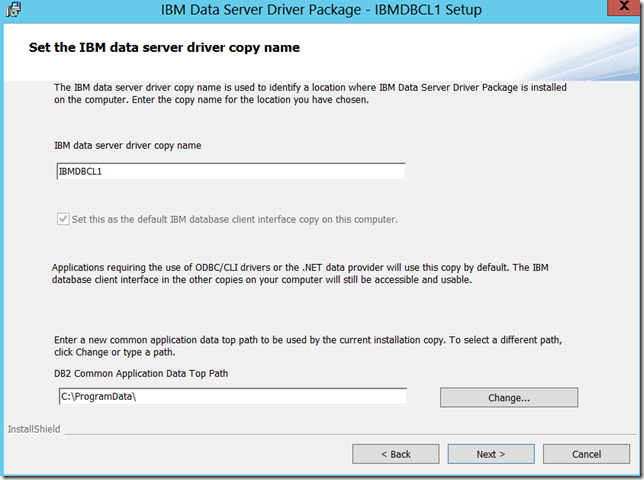 DB2 Demo application and DB2 Server Driver package | SQL