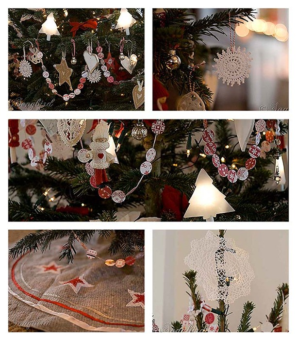 Songbird Christmas Tree Collage