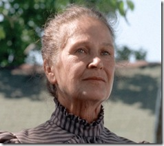 Colleen Dewhurst as Marilla Cuthbert in Road to Avonlea