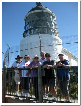 The gang at Nugget Point lighthouse.