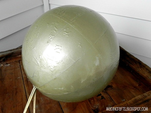spray painted globe
