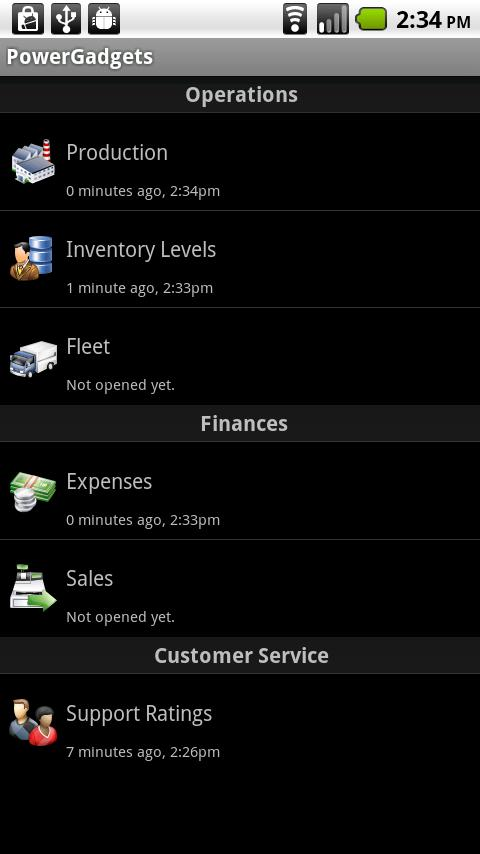 PowerGadgets Mobile- screenshot
