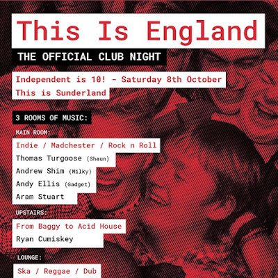 The next OFFICIAL This is England night is THIS Saturday 8th October at Soma in SUNDERLAND