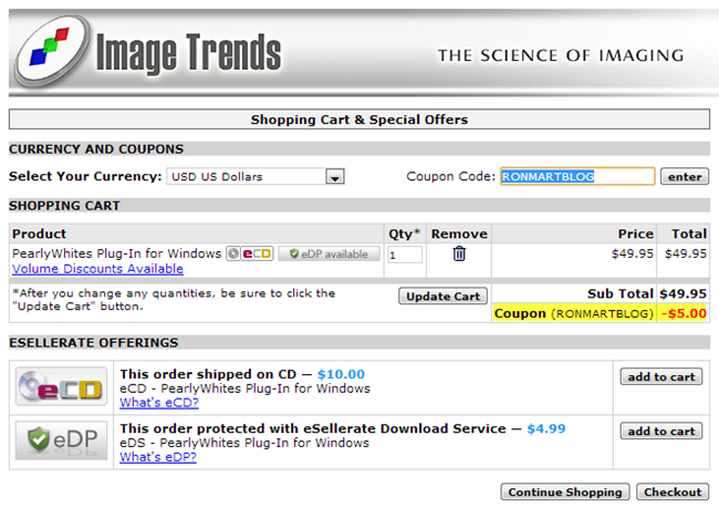 Image Trends Coupon Code in Cart