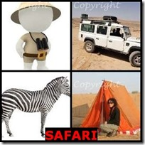 SAFARI- 4 Pics 1 Word Answers 3 Letters