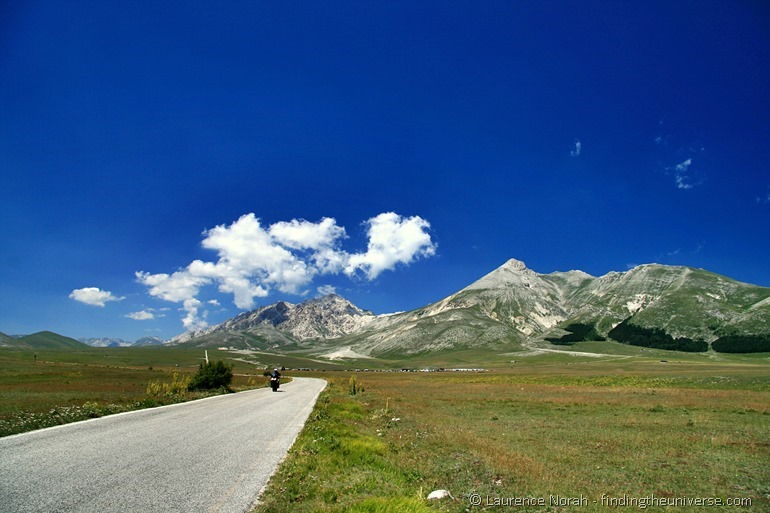 Motorcycle Abruzzo road Italy mountains cloud