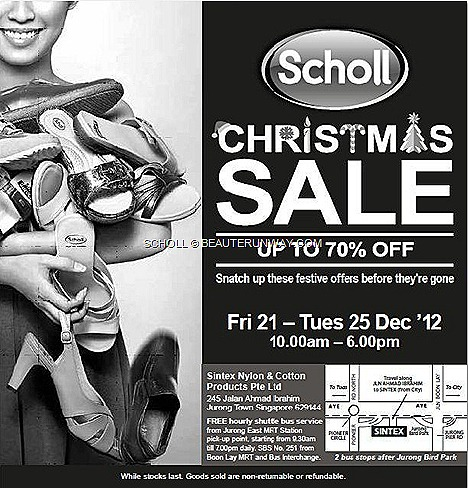 SCHOLL SHOES SALE WAREHOUSE 2012 2013 WOMEN MEN LEATHER FOOTWEAR  court shoes, pumps, sandals, slips on slippers Sintex Nylon & Cotton Products Pte Ltd 245 Jalan Ahmad Ibrahim Jurong Town Bird Park MRT