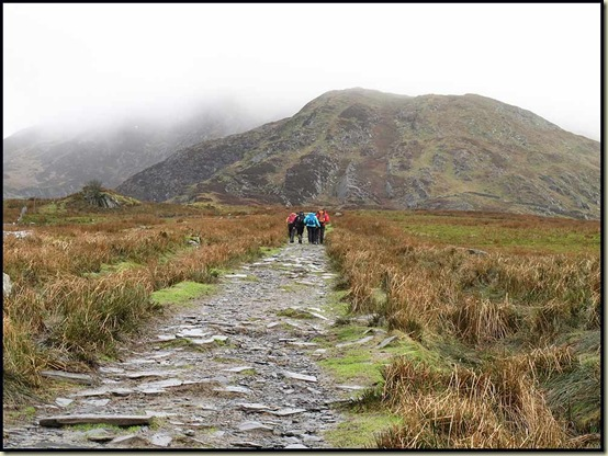 Heading up towards the end of the NE ridge of Moel Siabod - ascent path goes to the left