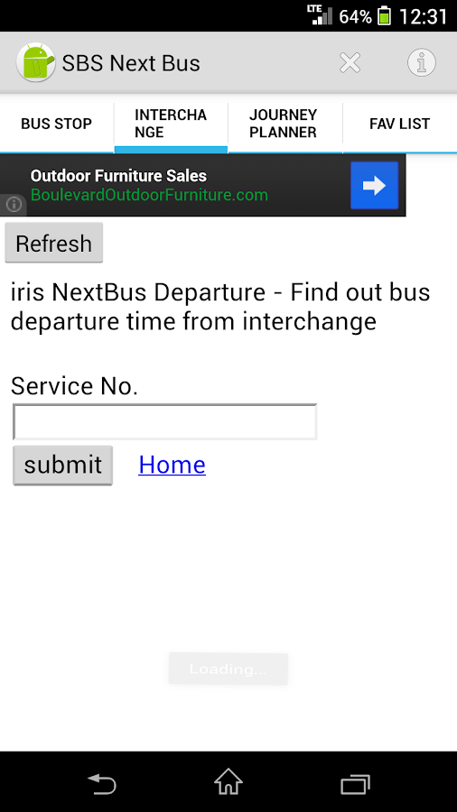 SBS Next Bus - screenshot