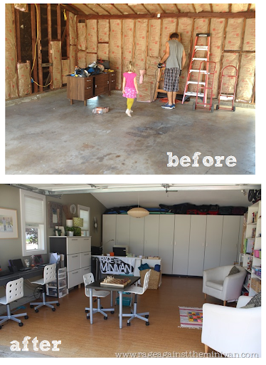 Delightful Garage Remodel (playroom Conversion) Before And After