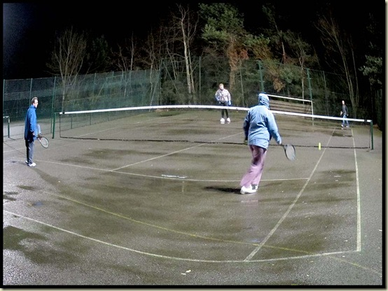 Floodlit tennis