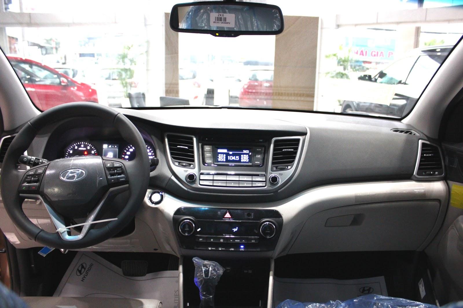 Nội thất xe Hyundai Tucson 5 chỗ màu nâu 01