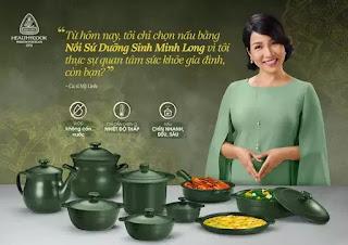 Ca sĩ Mỹ Linh làm đại sứ thương hiệu cho Gốm sứ Minh Long.