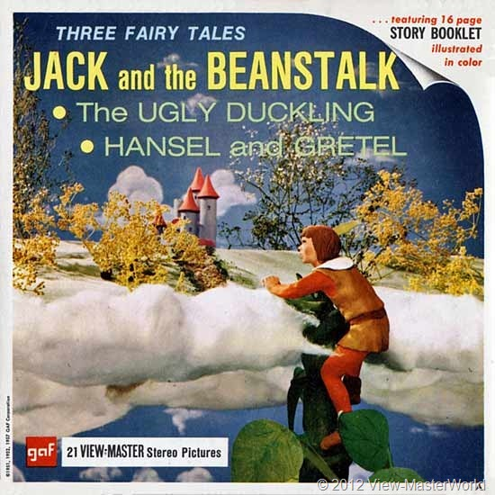 View-Master Three Fairy Tales featuring Jack and the Beanstalk (B314), Packet Cover