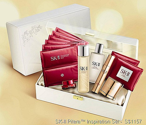 SK-II Pitera™ Inspiration Set Facial Treatment Essence 250ml Facial Treatment Clear Lotion 150ml LXP Ultimate Perfecting Cream 50g LXP Ultimate Perfecting Serum 50g Skin Signature Eye Cream 15g Skin Signature 3D Redefining Mask Signs Eye Mask