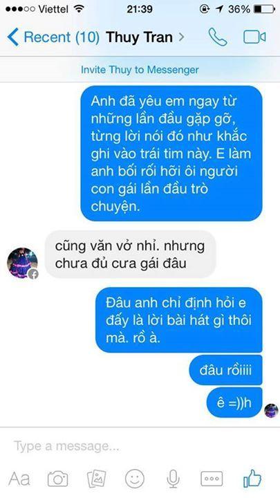 Tán gái trên Facebook  Level : Bá Đạo =))