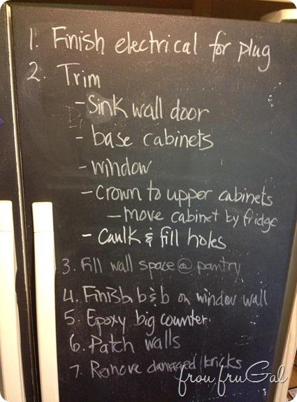 Chalkboard Fridge To Do List