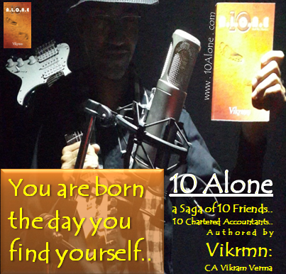 10 Alone quote by Vikrmn You are born the day you find yourself CA Vikram Verma