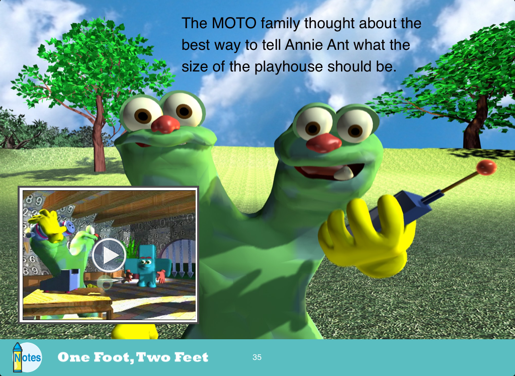 One Foot, Two Feet: Measuring - screenshot