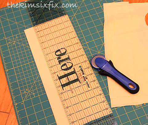 Cutting down fabric