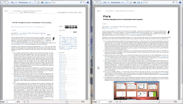 Blogger default print vs modified print layout with CSS queries