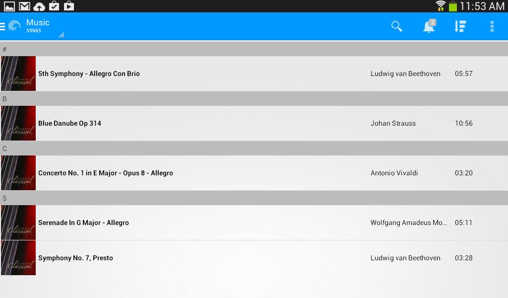 Seagate Media™ app - screenshot