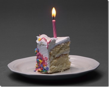 Slice of Birthday Cake with Candle - from Microsoft Office free images