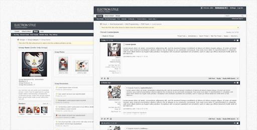 Premium and Creative Forum Templates: Electron - vBulletin