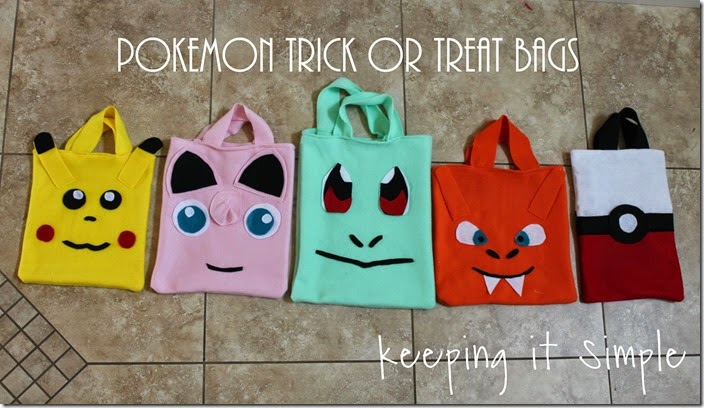 Pokemon Trick Or Treat Bags