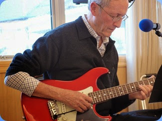 Brian Gunson accompanied Denise Gunson with his USA G & L electric guitar. Photo courtesy of Dennis Lyons