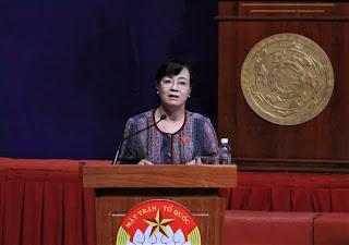 Bà Nguyễn Thị Quyết Tâm cho hay sẽ theo đuổi đến cùng trong vụ việc Thủ Thiêm.